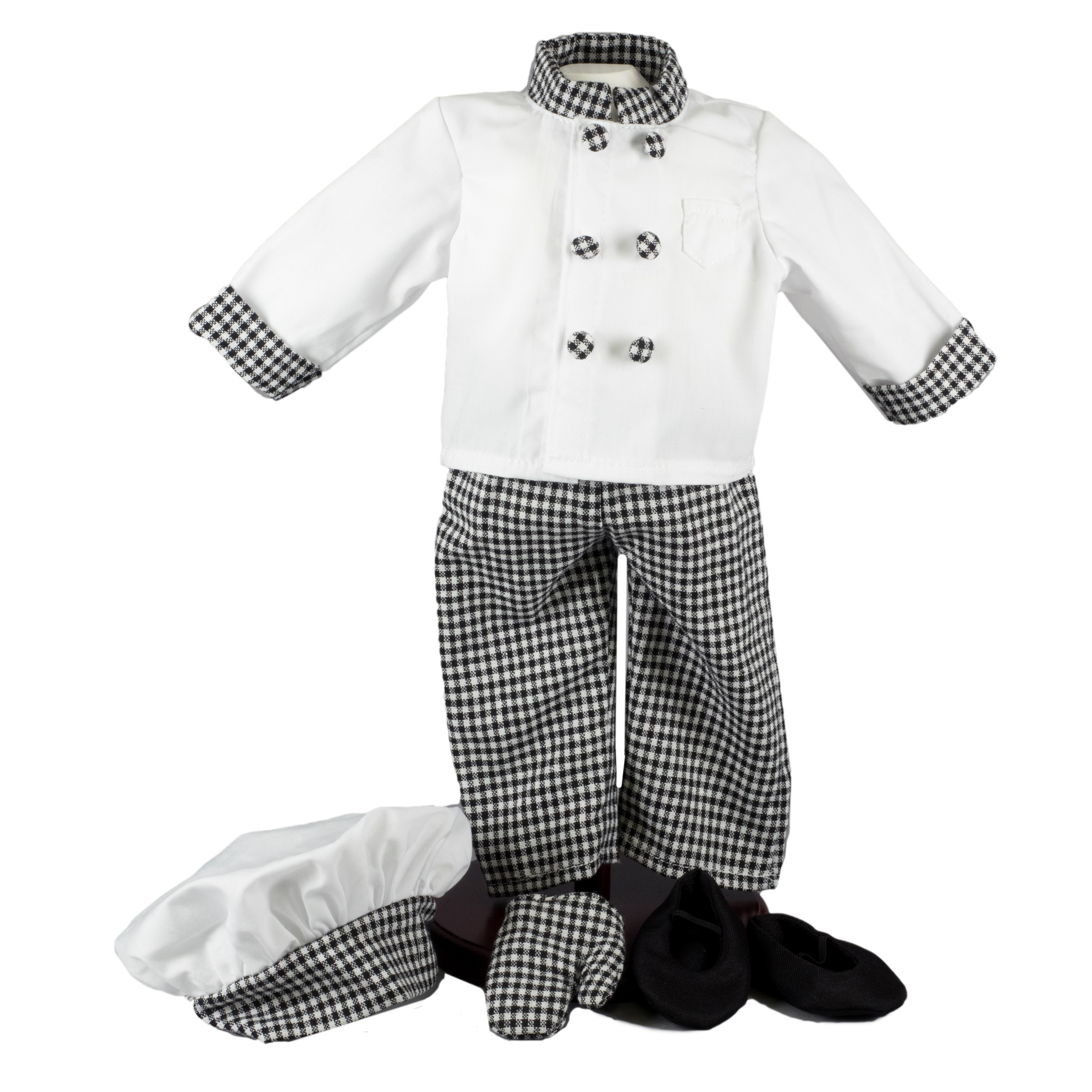 "The Queen's Treasures Chef's Outfit: Hat Jacket Pants shoes Oven Mitt Fits 18"" American Girl ® Doll Clothes & Accessorie Multi-Color plus size,  plus size fashion plus size appare"