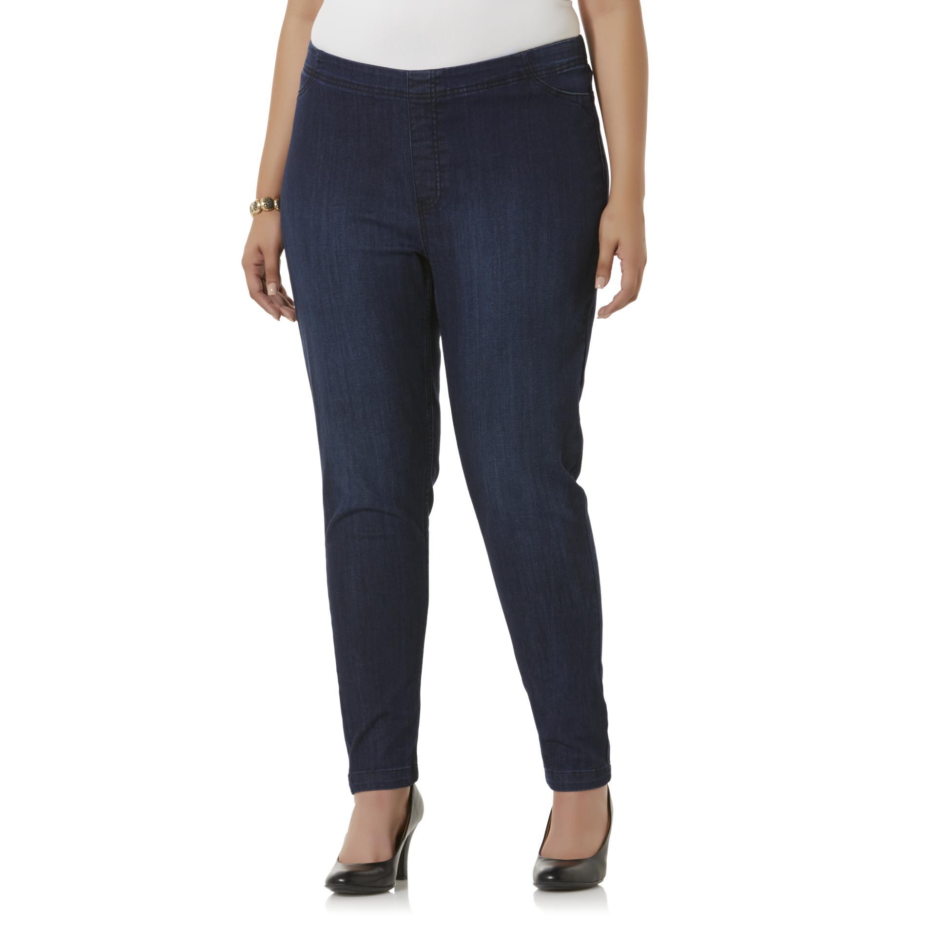 Simply Emma Women's Plus Straight Leg Jeans