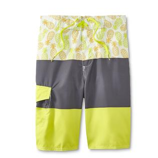 49113903bd Joe Boxer Boys' Swim Boardshorts - Pineapple