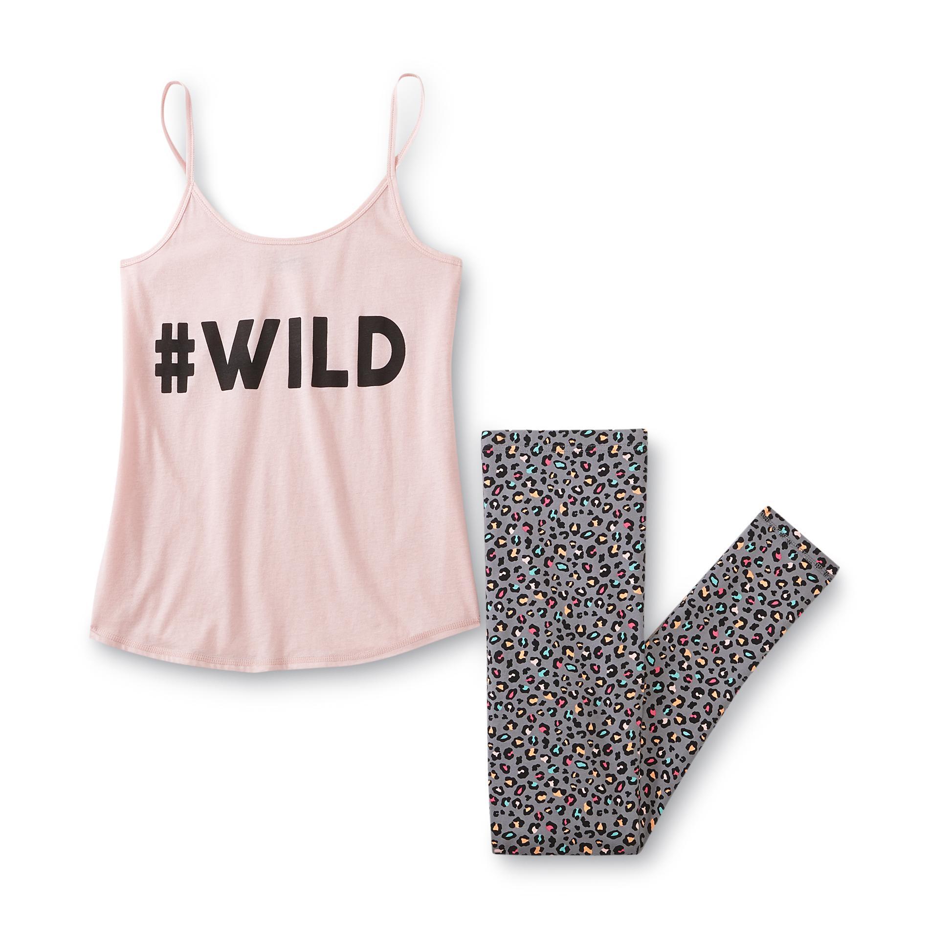 Joe Boxer Junior's Pajama Camisole & Leggings - Cheetah Print