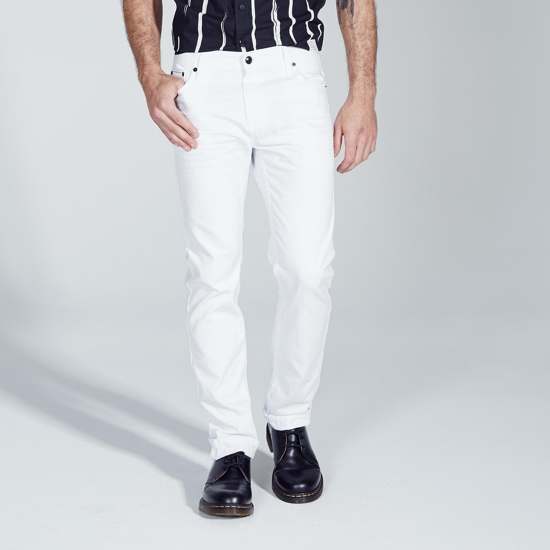 Adam Levine Men's White Wash Destructed Jeans