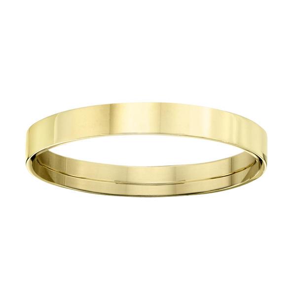 Ladies 3mm 10K Yellow Gold Flat Comfort Fit Wedding Band