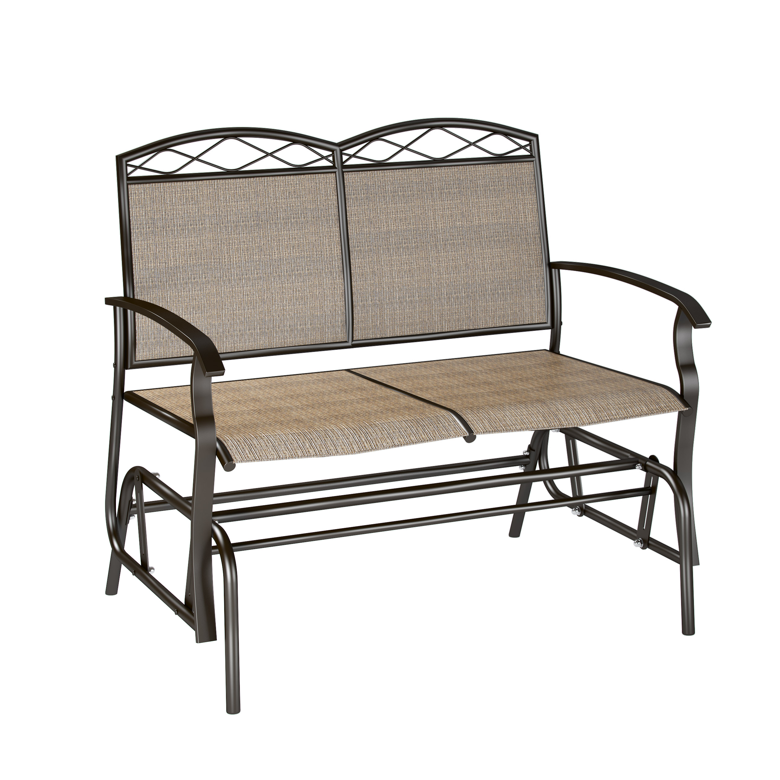 Corliving patio double glider outdoor living patio for Chaise bercante