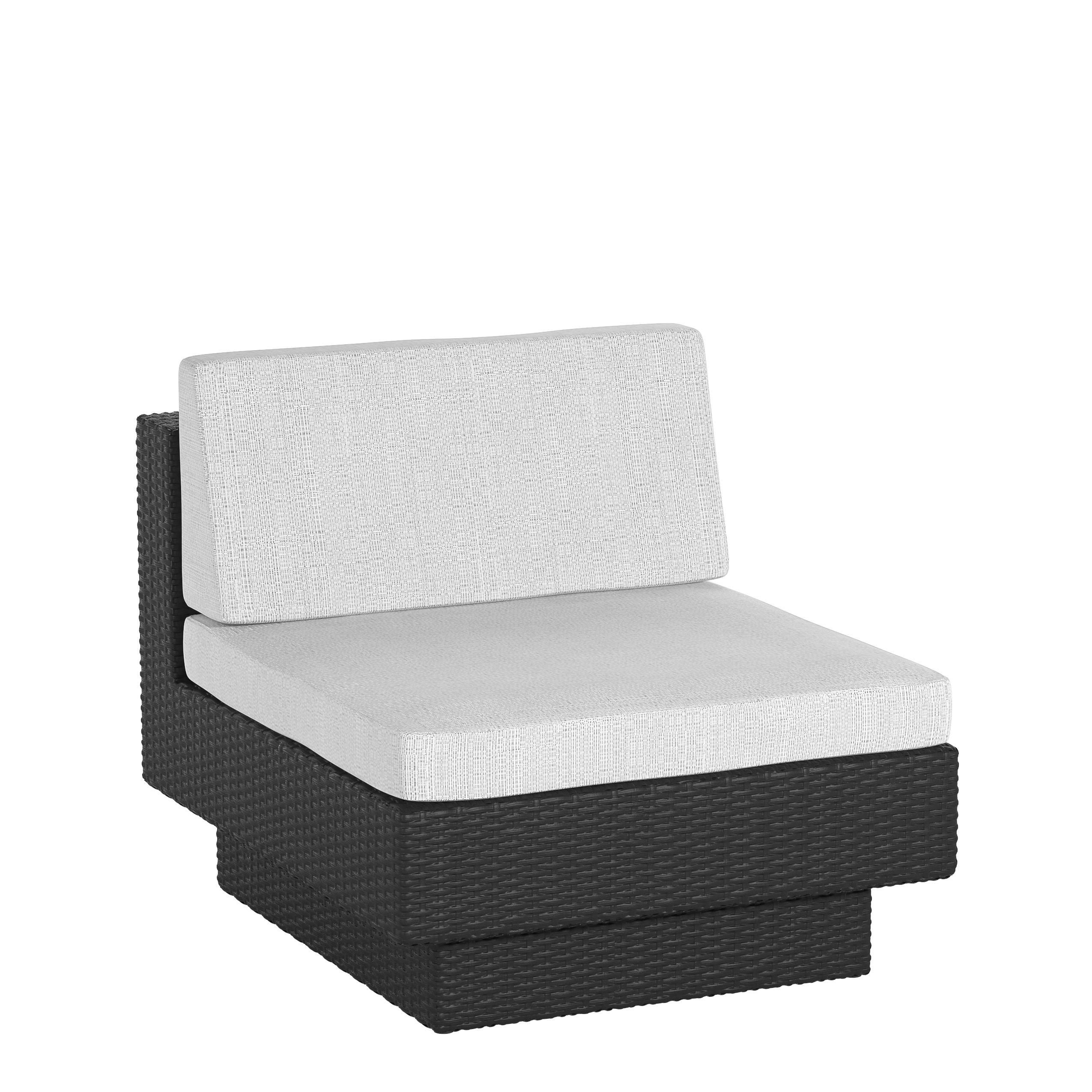 Sonax Park Terrace Textured Black Patio Middle Seat
