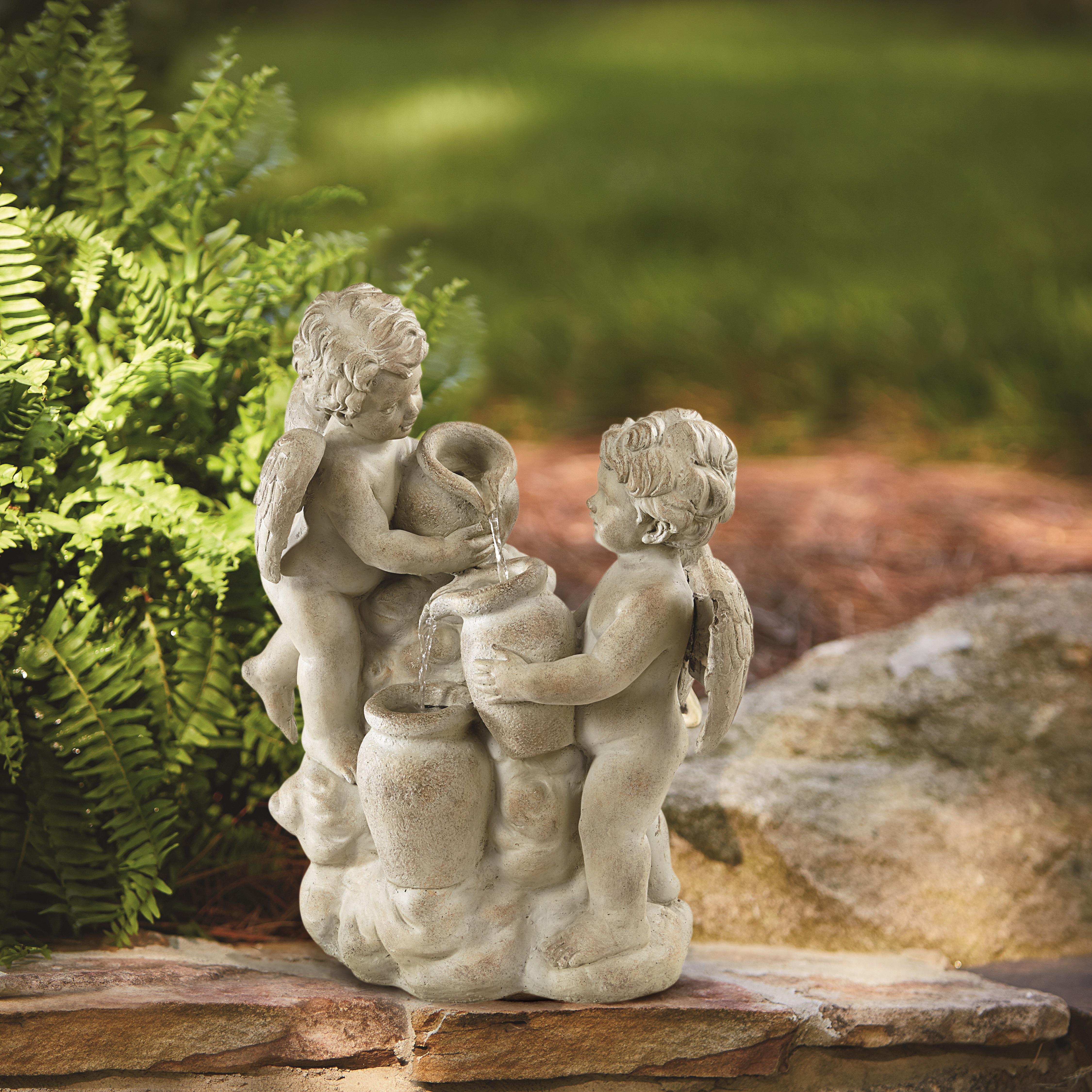 Image of Garden Oasis Cherubs Fountain, Multi