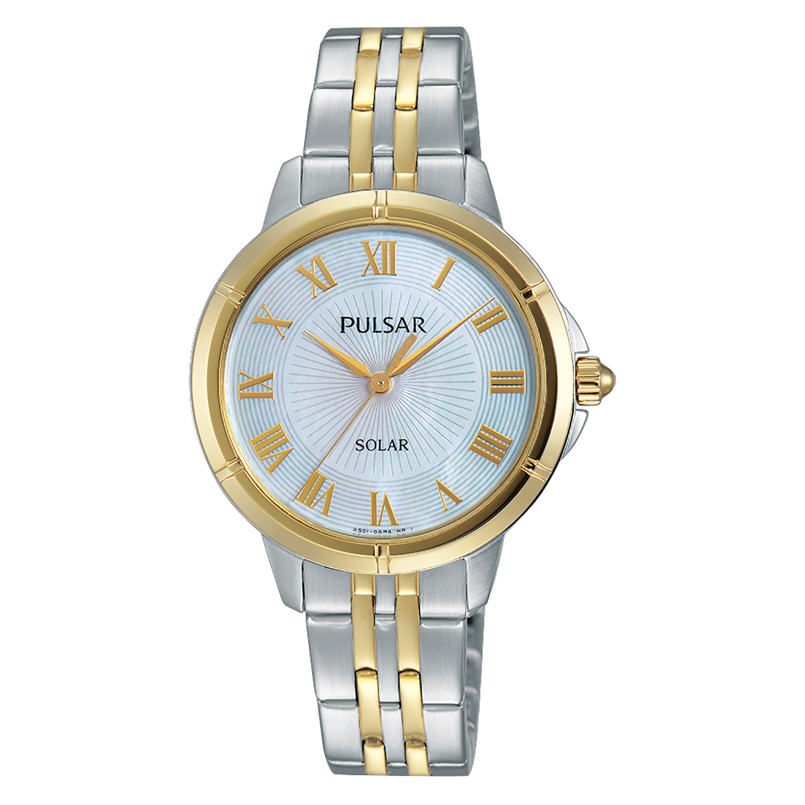 Pulsar Ladies Easy Style Solar Two Tone with Mother of Pearl Dial