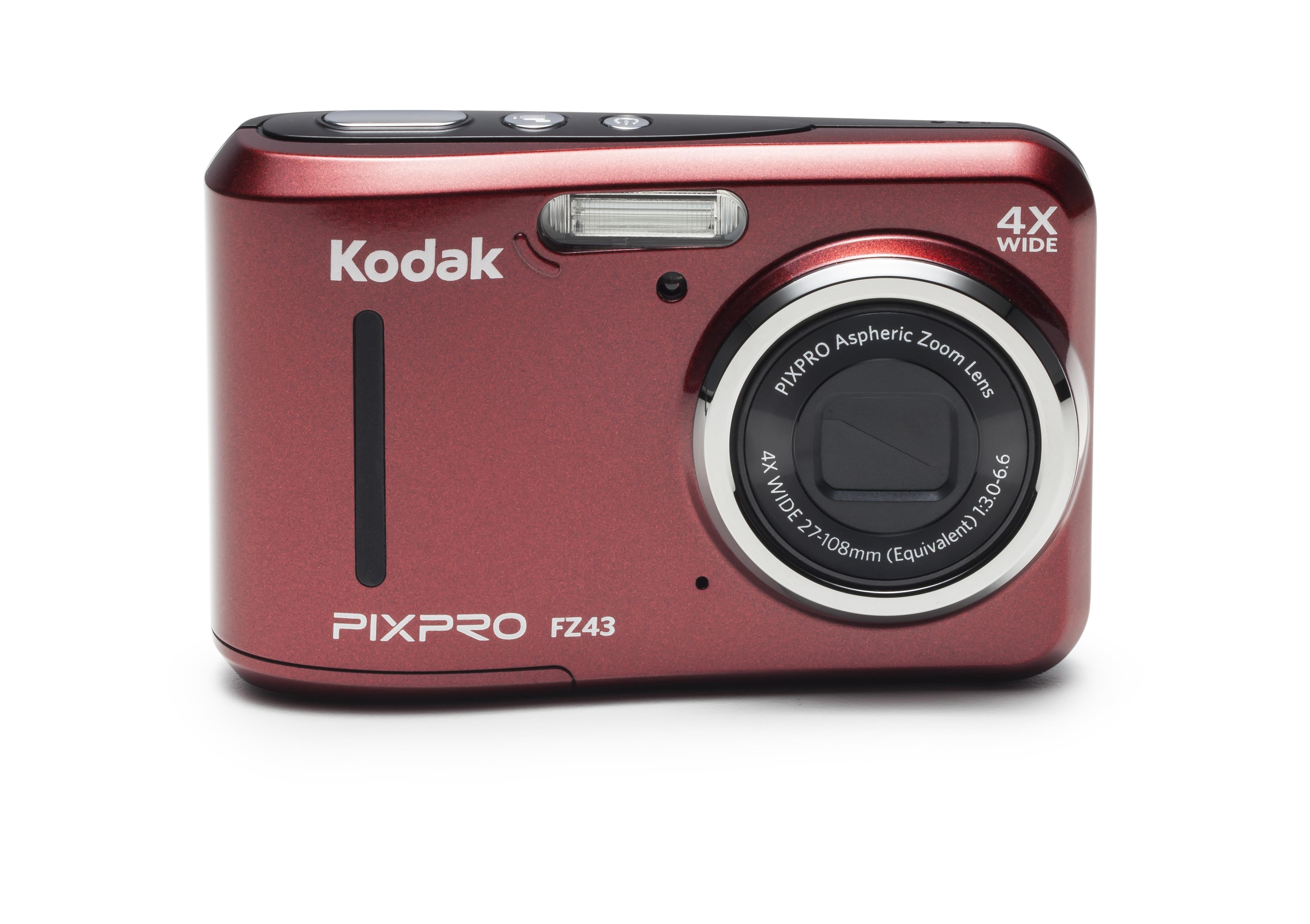 KODAK 16-Megapixel FZ43 Pixpro Compact Digital Still Camera - Red