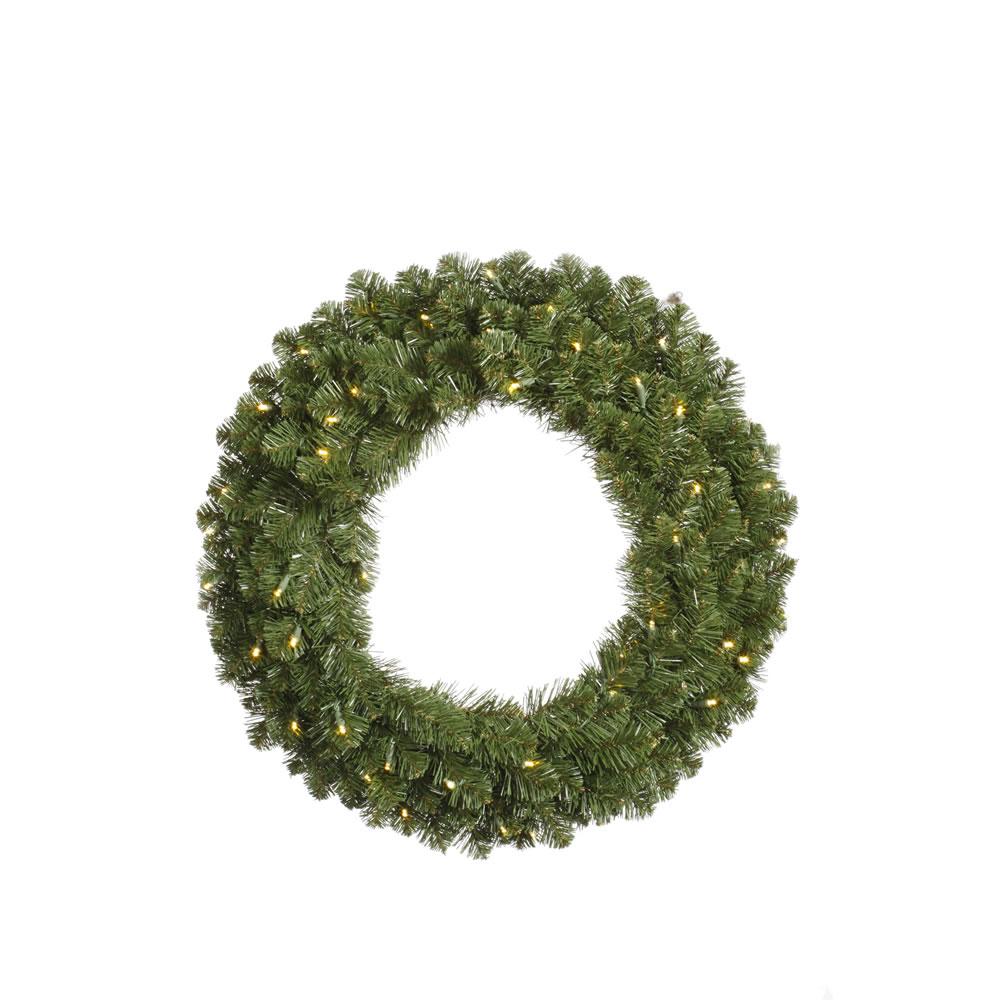 Vickerman 48 Inch Grand Teton Wreath with 200 Clear Dura-Lit Lights
