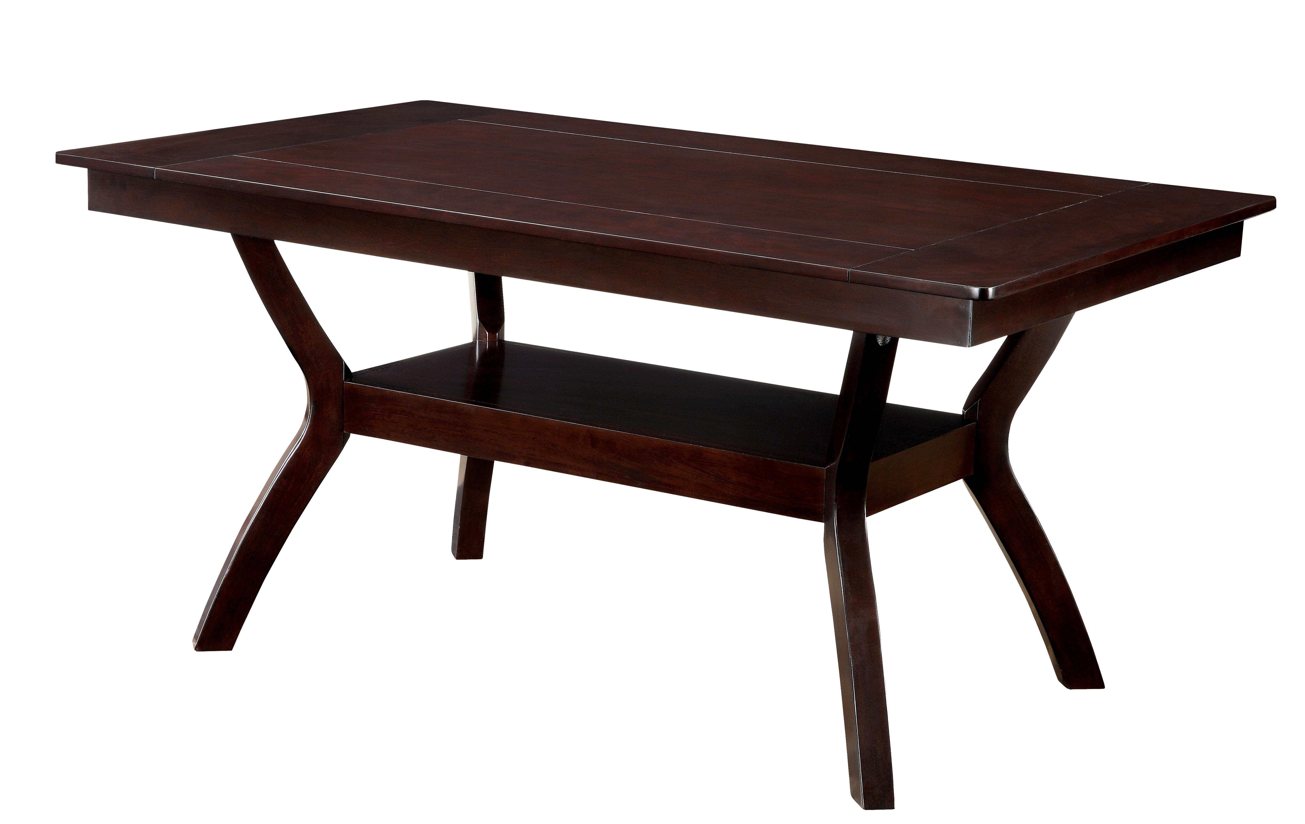 Furniture of america dark cherry darcie wood dining table - Dark wood dinning table ...