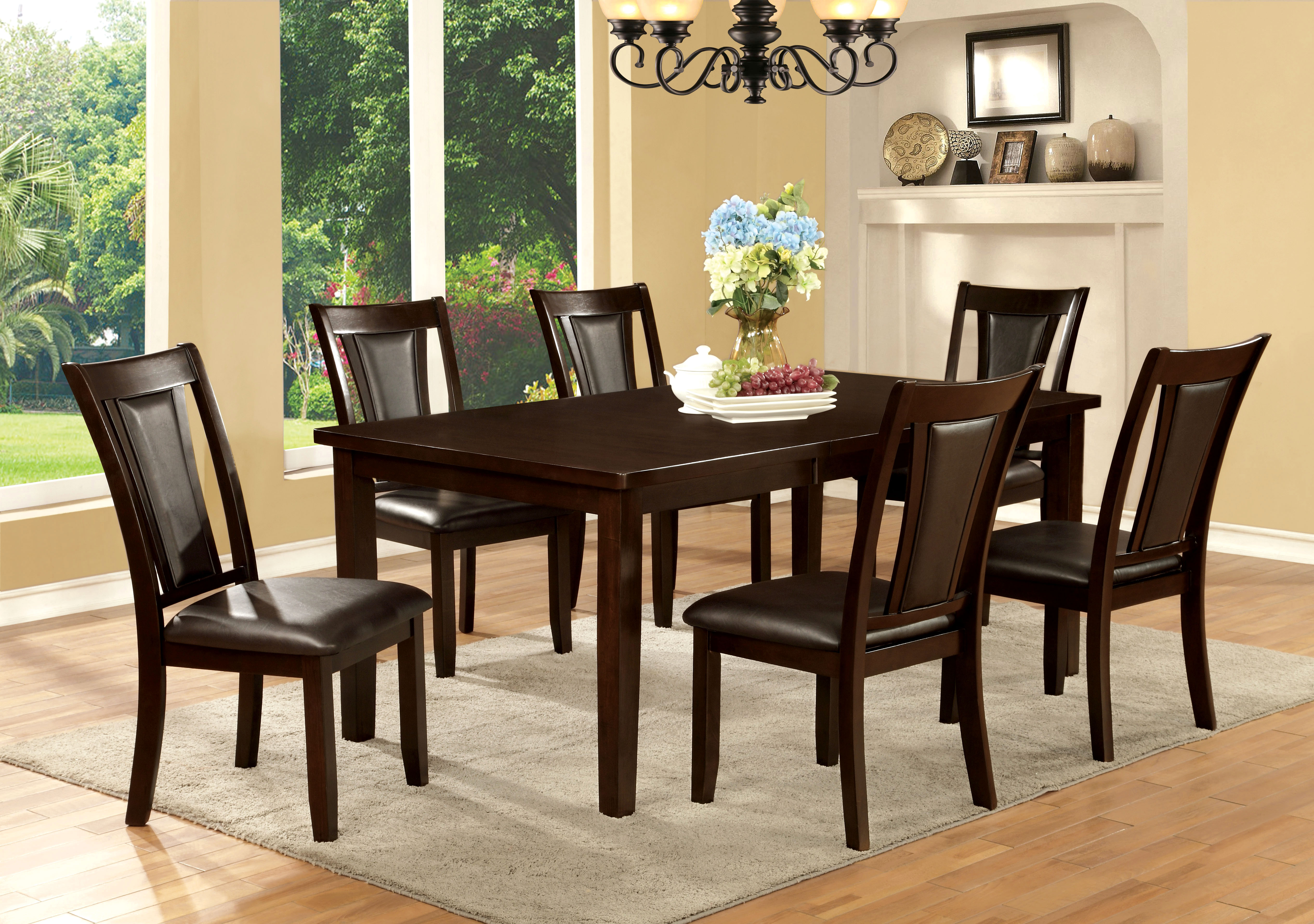 Furniture of America Dark Cherry Bordeaux Dining Table