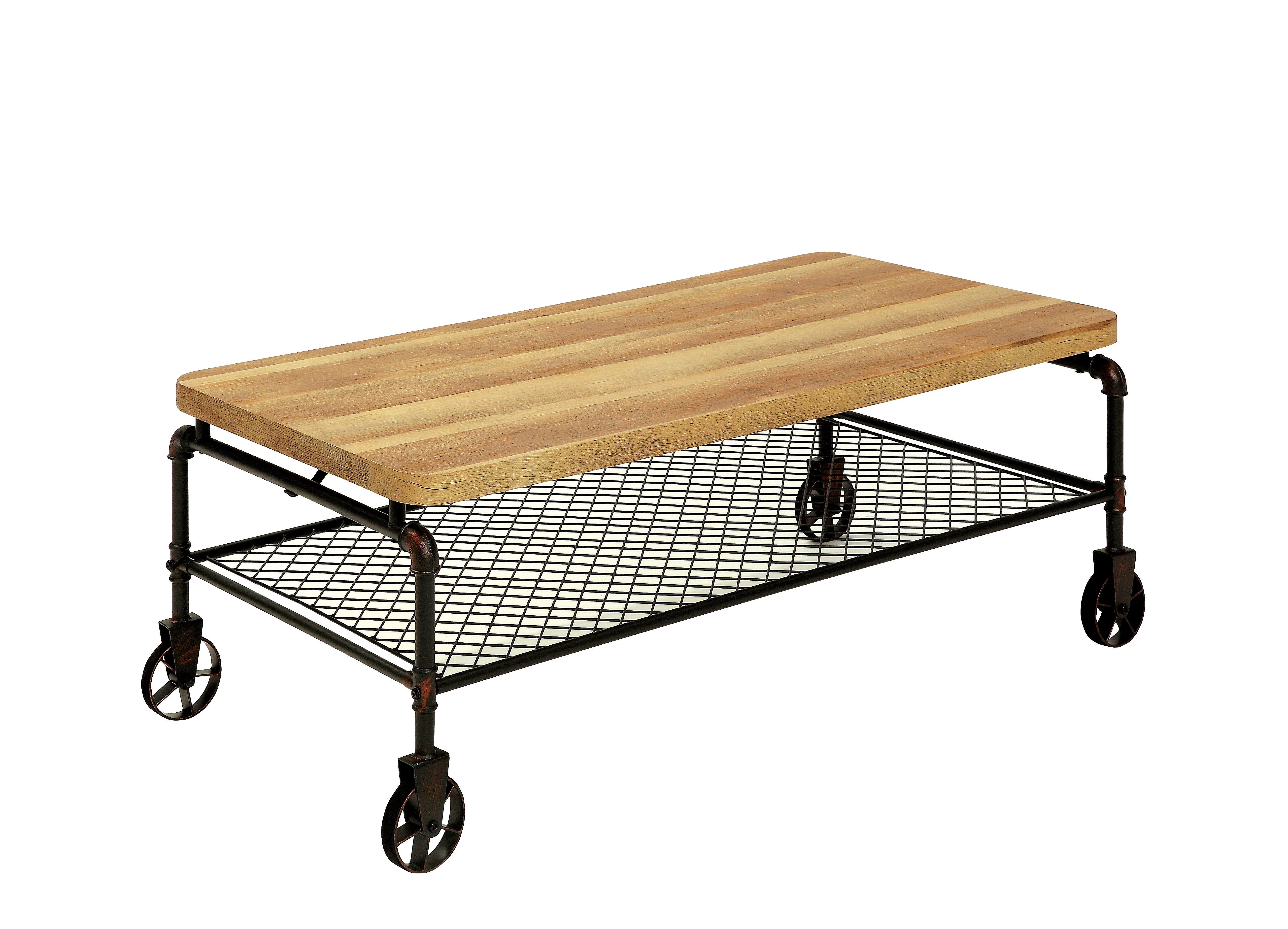 Furniture Of America Tiegan Industrial Style Coffee Table
