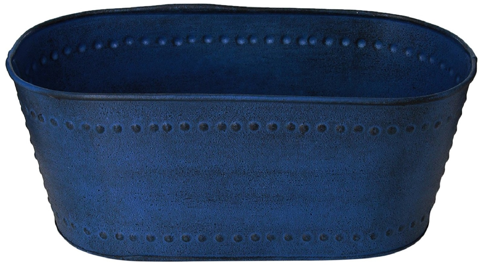 "Robert Allen Home & Garden Metal Oval Planter 10"""" Blue"