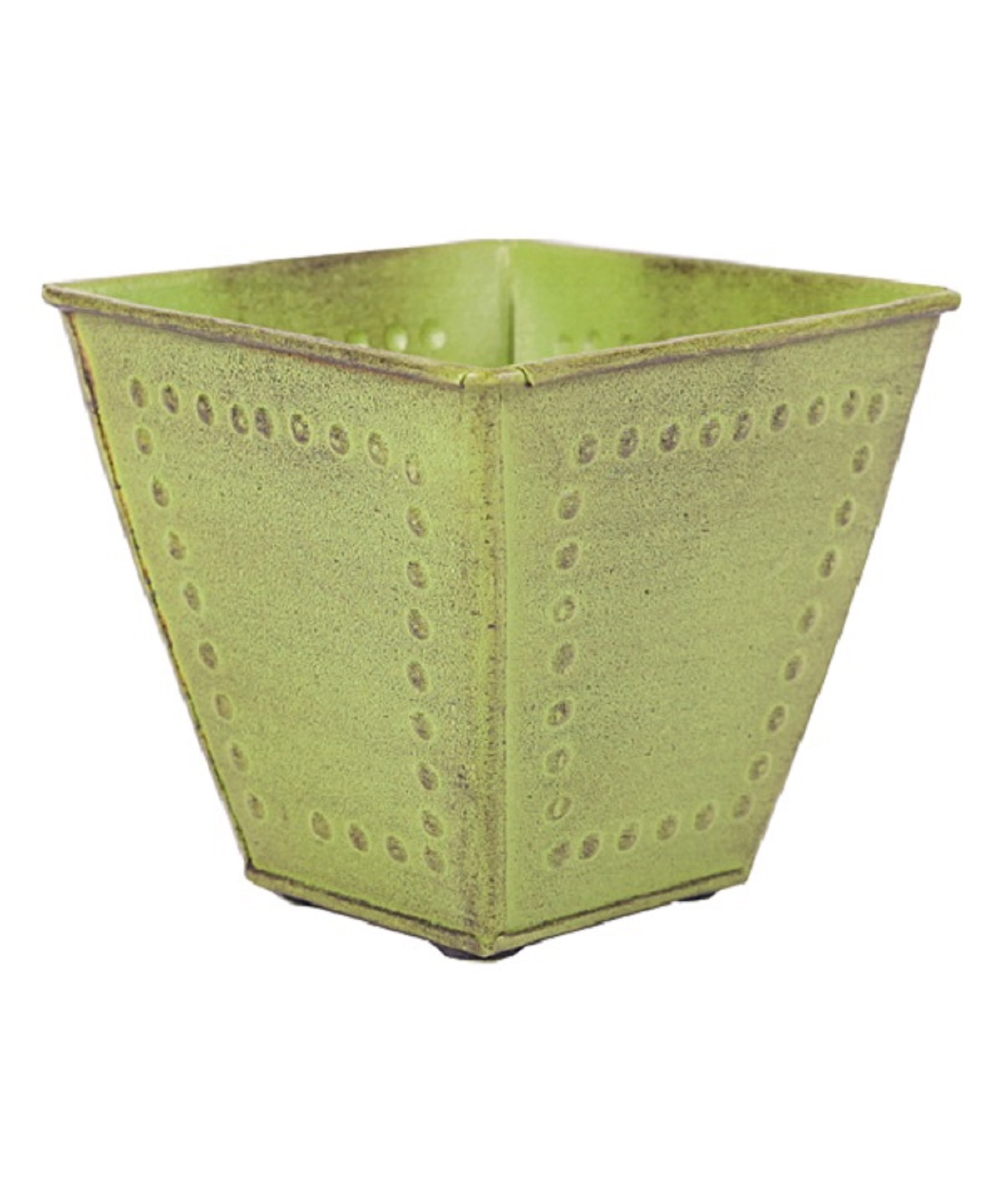 "Robert Allen Home & Garden Metal Square Planter 8"""" Green"