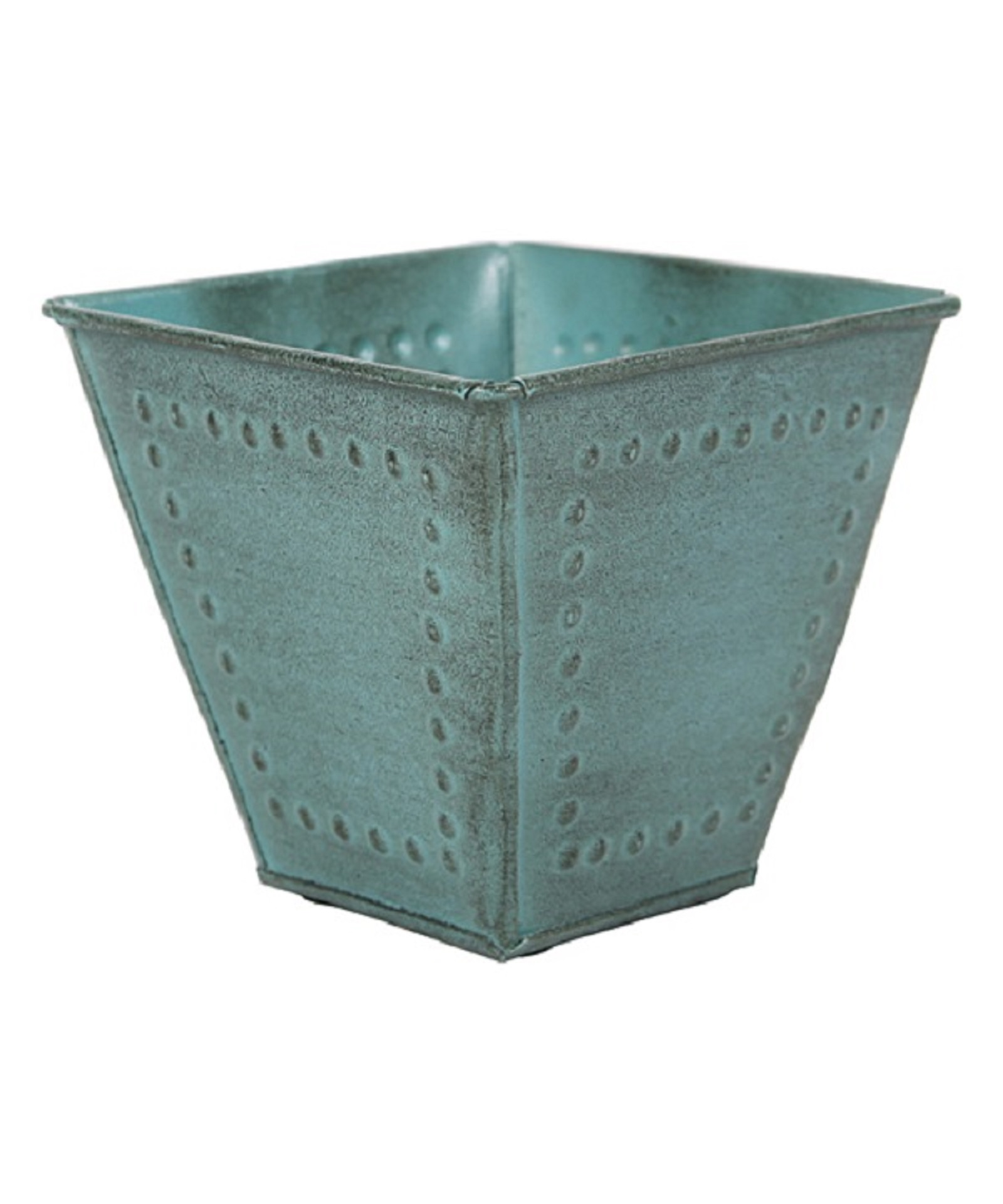 "Robert Allen Home & Garden Metal Square Planter 8"""" Blue"