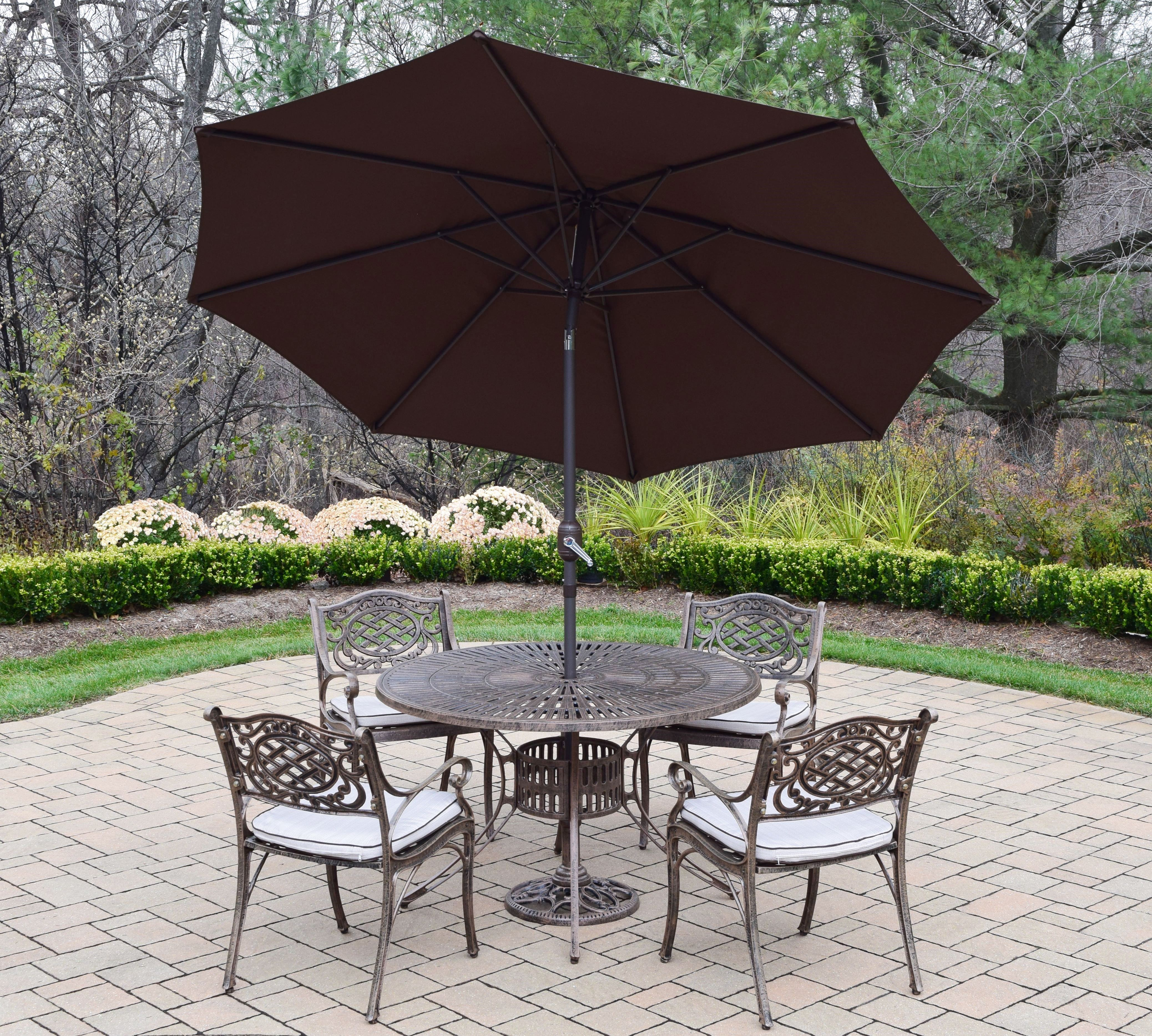 umbrella and stand outdoor living patio furniture dining sets