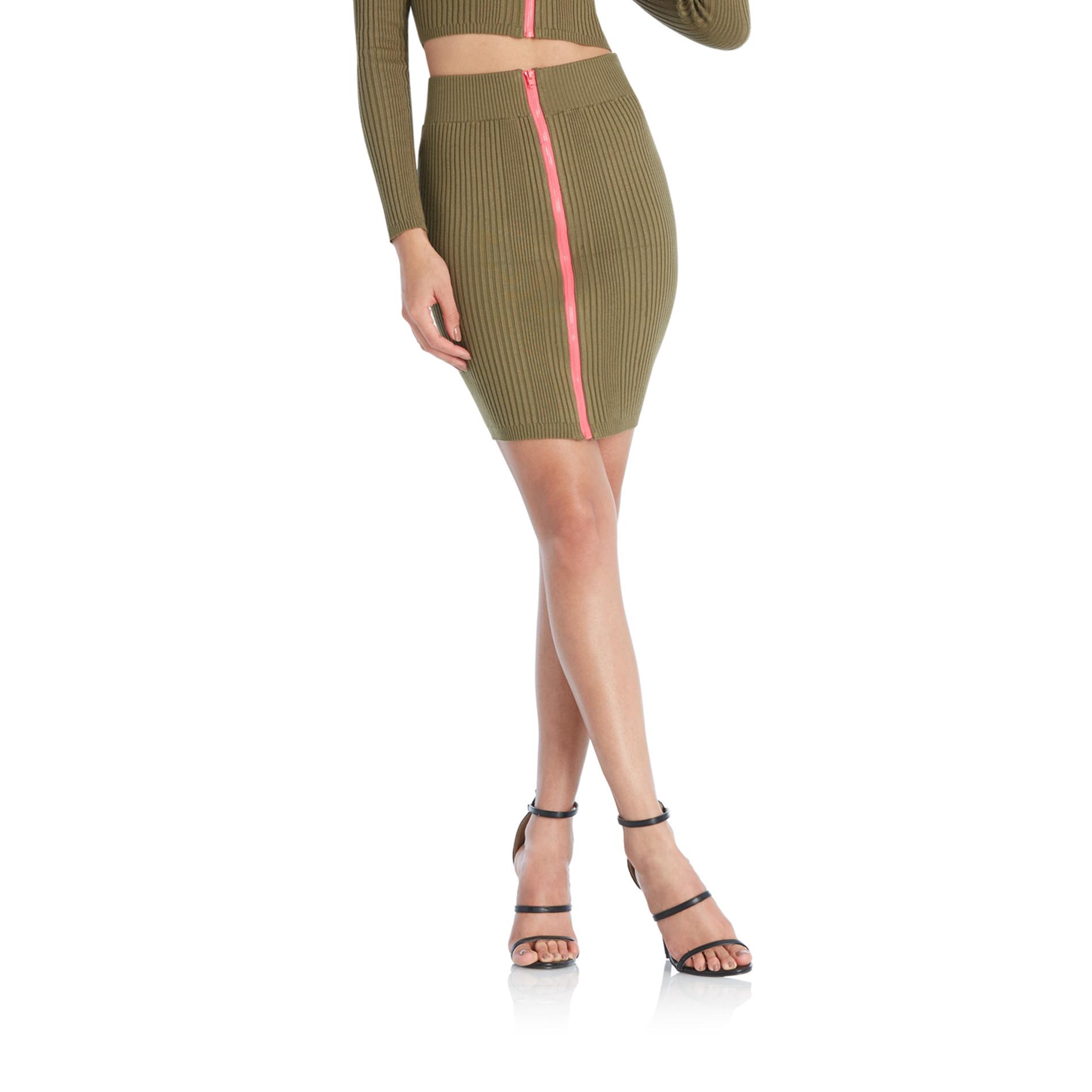 Nicki Minaj Women's Plus Sweater Knit Zip Front Pencil Skirt PartNumber: 042VA90586512P MfgPartNumber: 5T52579KM
