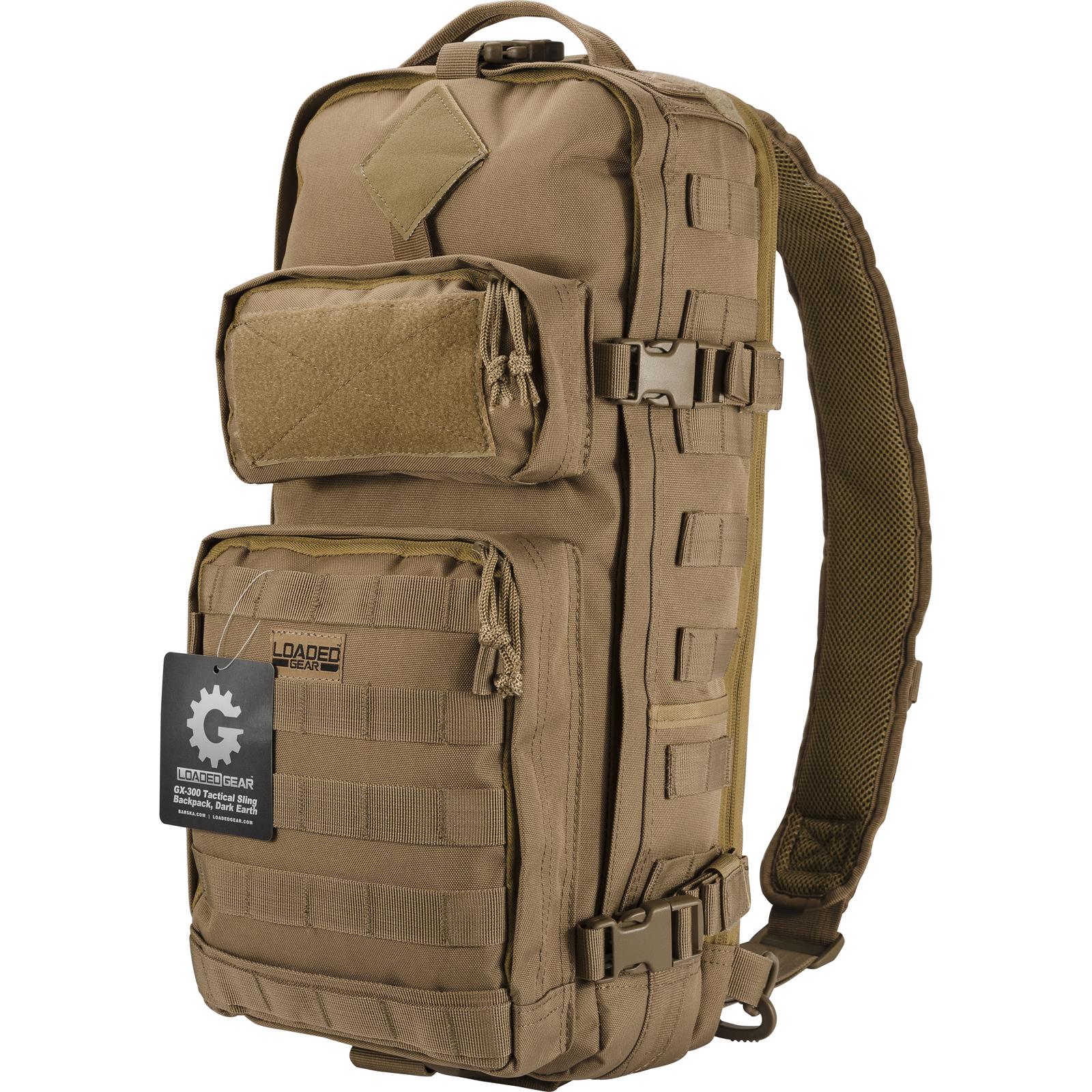 Image of Barska Loaded Gear GX-300 Tactical Sling Backpack (Flat Dark Earth)