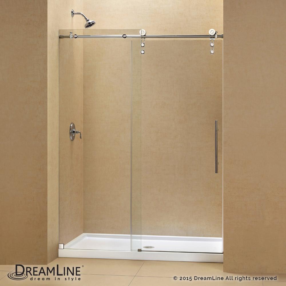 Dreamline Enigma-Z Fully Frameless Sliding Shower Door and SlimLine 32