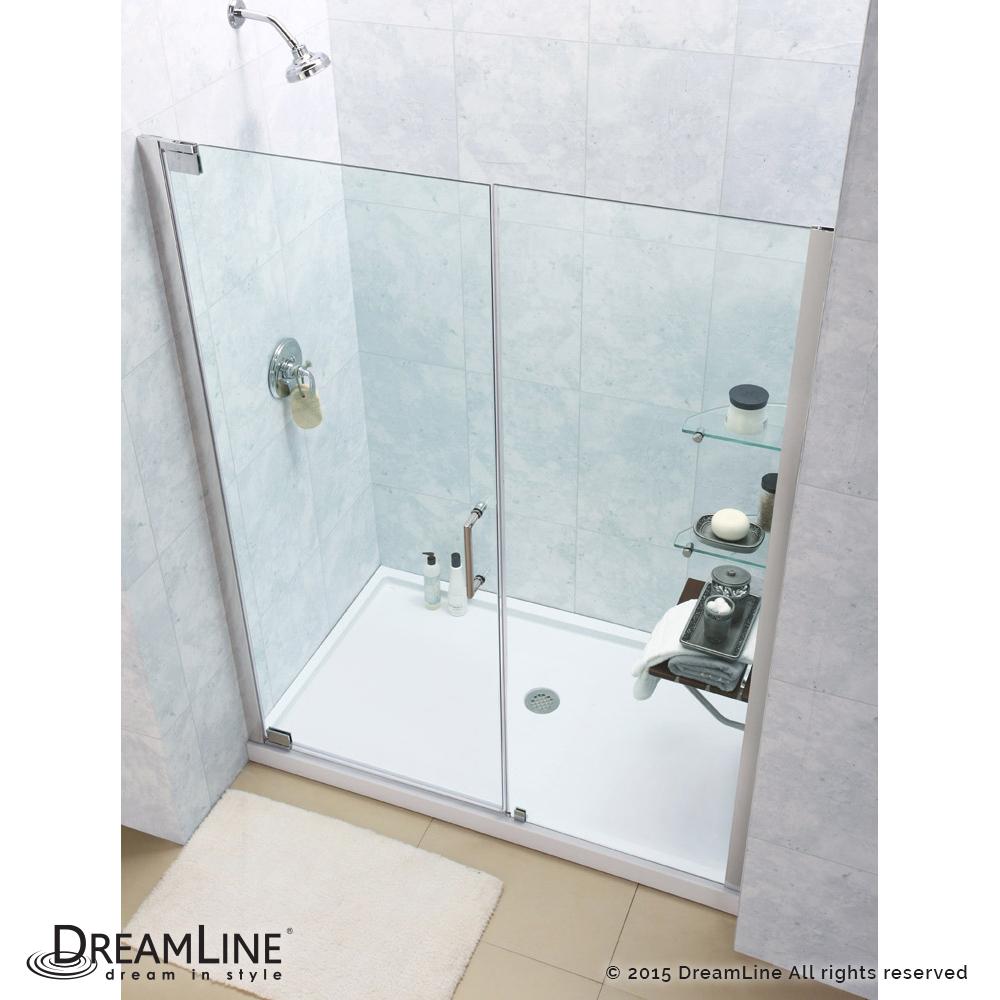 Dreamline Elegance Frameless Pivot Shower Door and SlimLine 32
