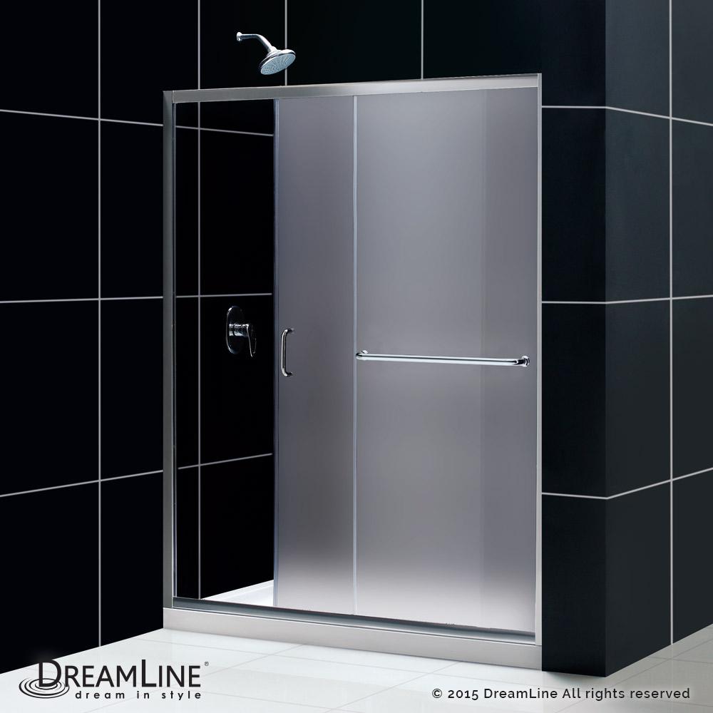 Dreamline Infinity-Z Frameless Sliding Shower Door and SlimLine 36