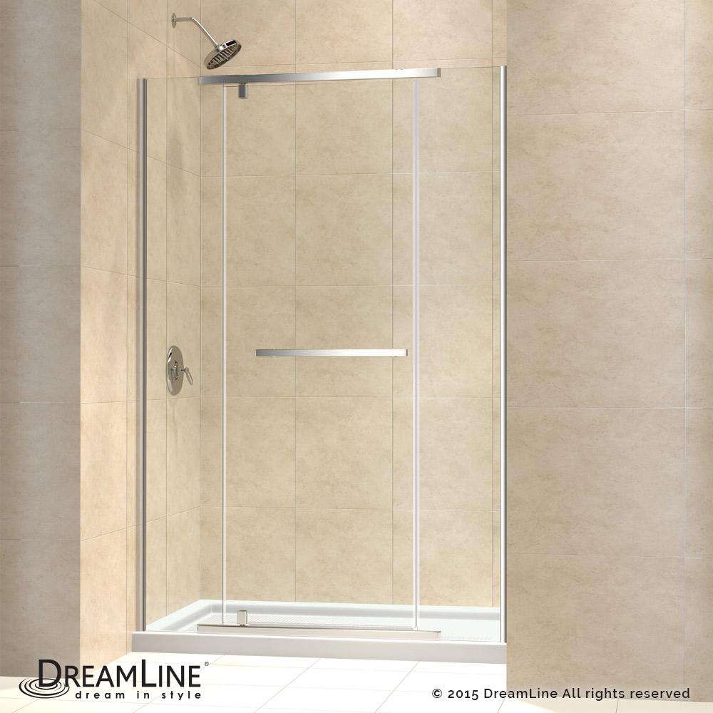Dreamline Vitreo-X Frameless Pivot Shower Door and SlimLine 32