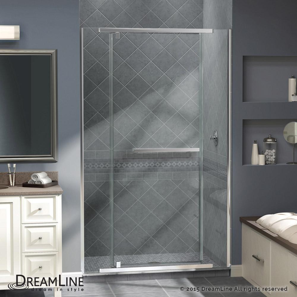 """Dreamline Vitreo-X 58 to 58 3/4"""" Frameless Pivot Shower Door  Clear 3/8"""" Glass Door  Chrome Finish PartNumber: 08327736000P KsnValue: 7181738 MfgPartNumber: SHDR-2158722-01"""