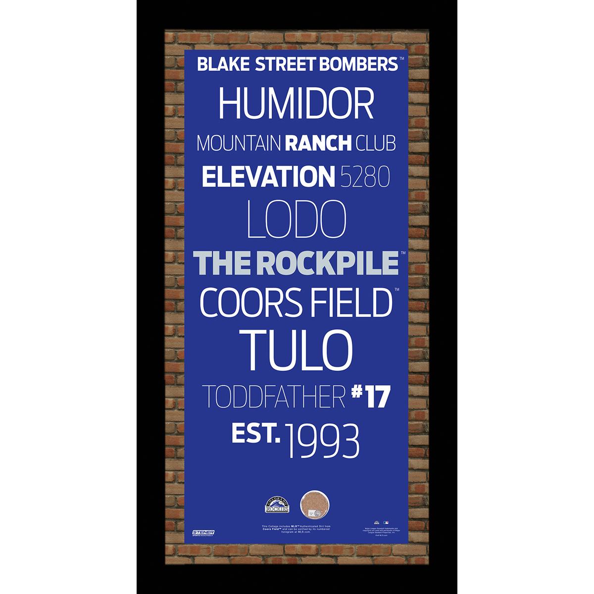 MLB Colorado Rockies Subway Sign 10x20 Framed Photo PartNumber: 080V003157356000P KsnValue: 3157356 MfgPartNumber: ROCKPHA009000