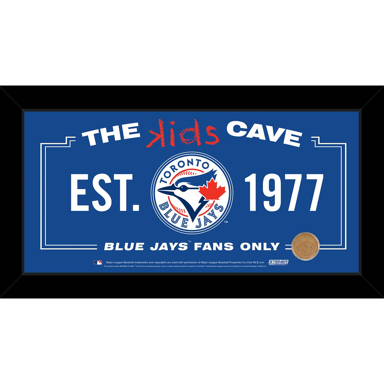 Toronto Blue Jays 10x20 Kids Cave Sign w/ Game Used Dirt from Rogers Centre PartNumber: 080V003146174000P KsnValue: 3146174 MfgPartNumber: BLUEPHA010012