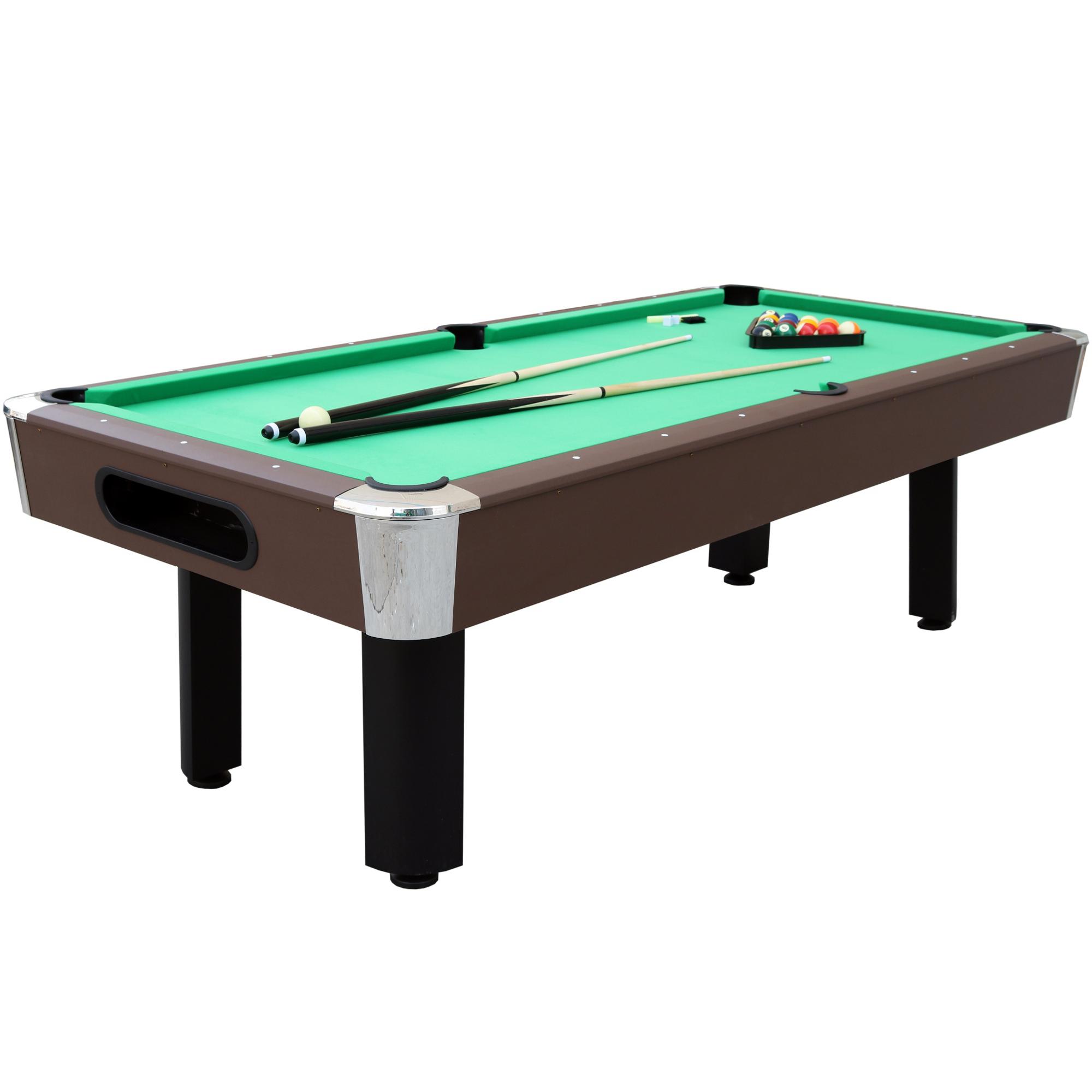 """""""Sportcraft Bayshore 96"""""""" Green Billiard Table w/ Arcade Style Ball Return & Table Tennis Top, Espresso"""""" im test"