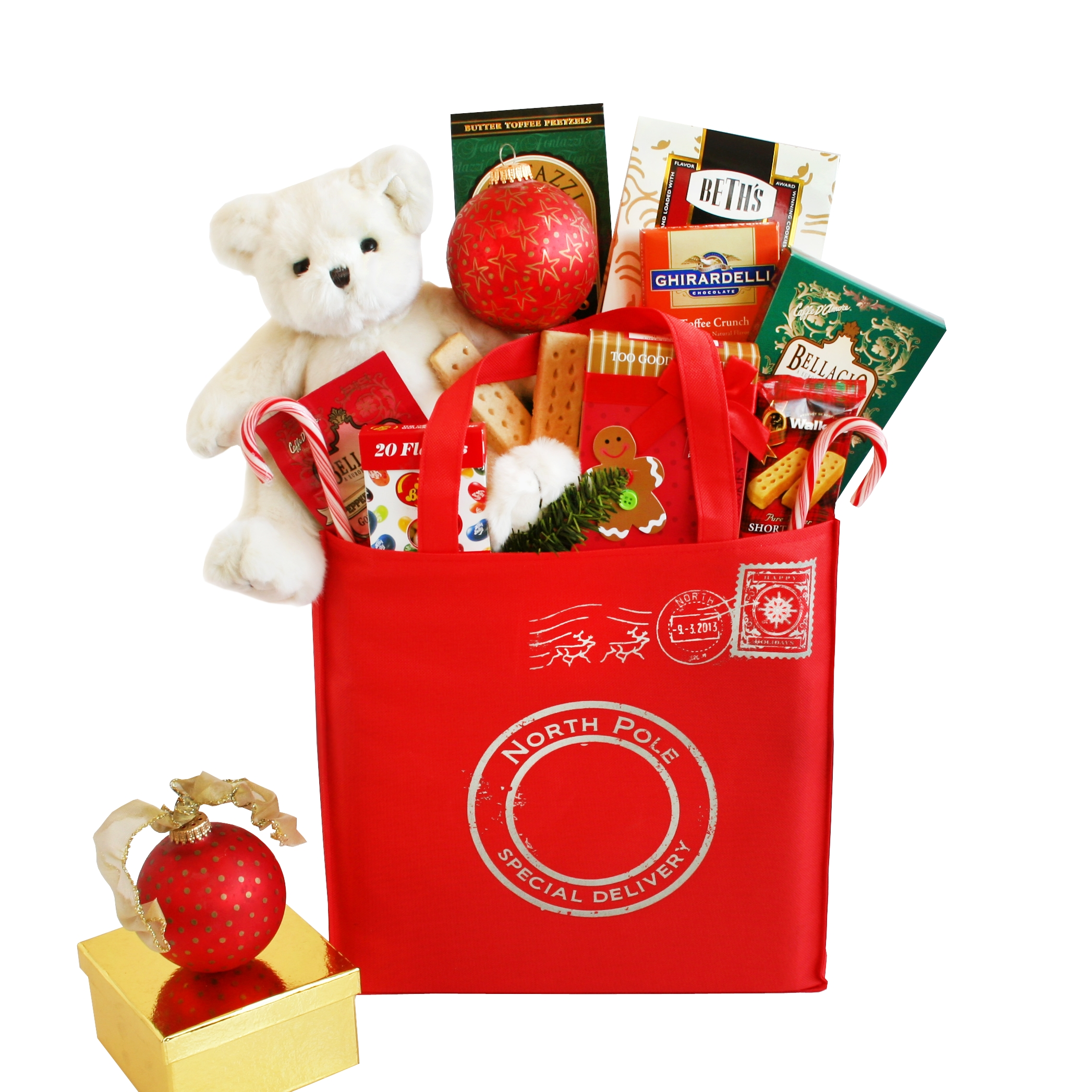 Givens Gifting North Pole Special Delivery Holiday Tote