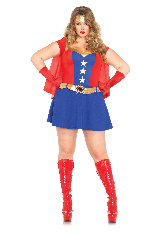 Plus-Size 3 Piece Comic Book Girl Costume