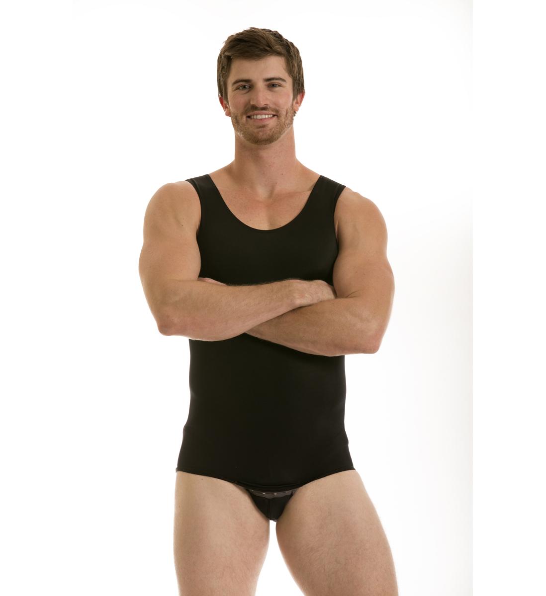 Insta Slim Men's Compression Tank Bodysuit PartNumber: 3ZZVA87264812P MfgPartNumber: MB2006BKMD