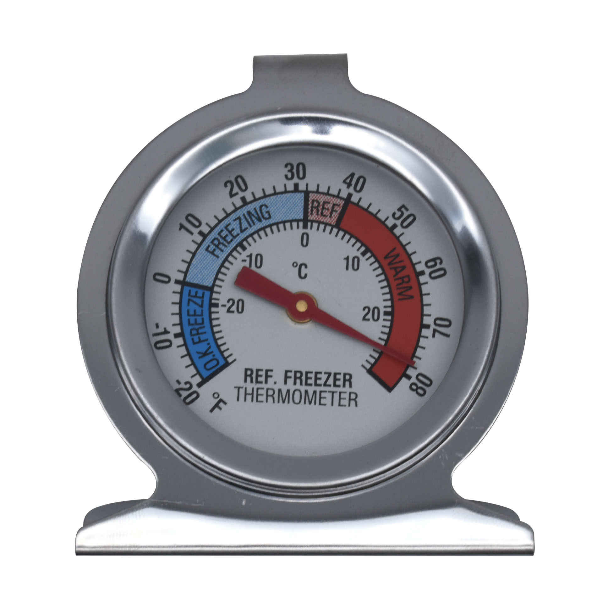 Essential Home Thermometer for Refrigerator and Freezer, Silver-23547.01.SEA