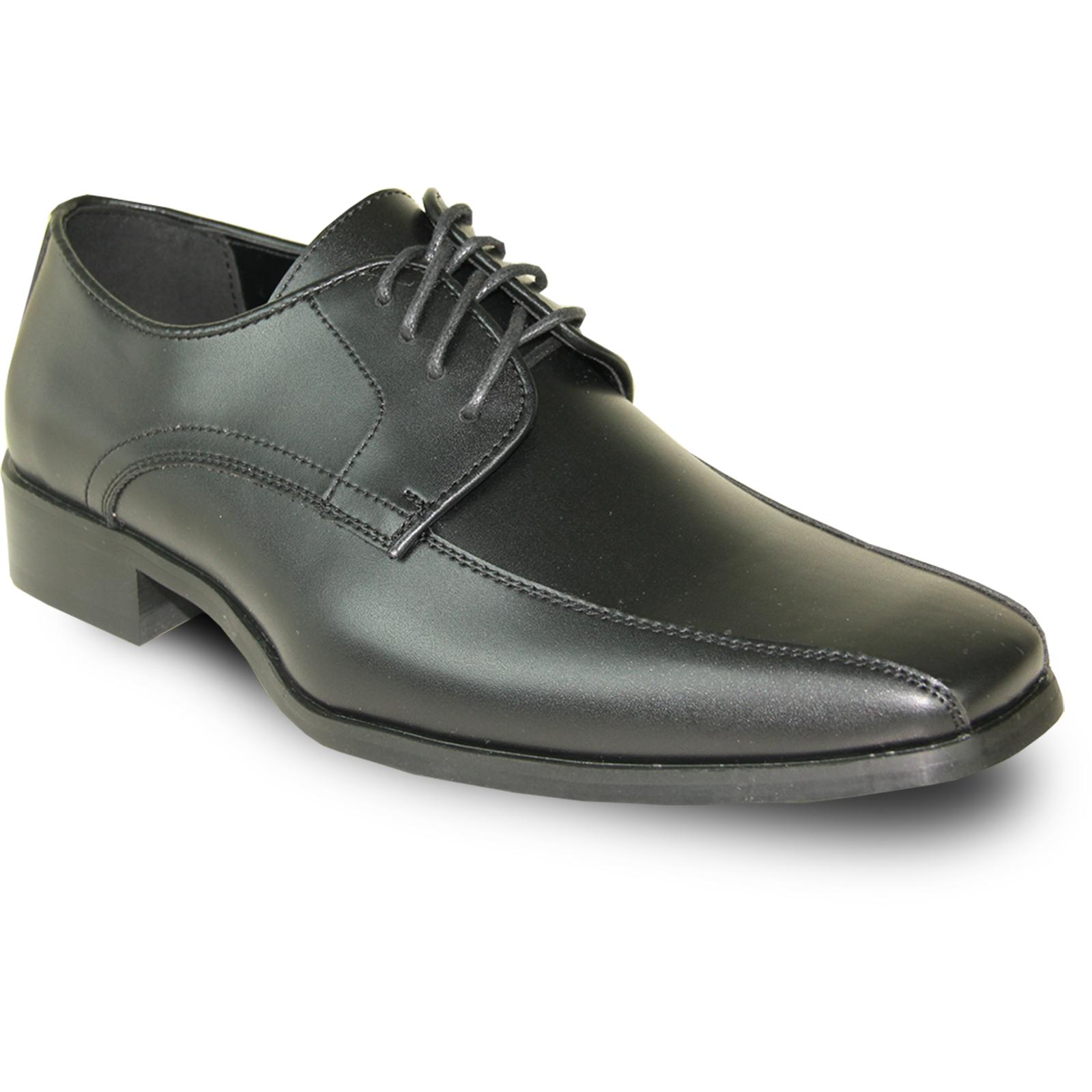 VANGELO Men's Tux-5 Black Matte Dress Oxford - Wide Width Available