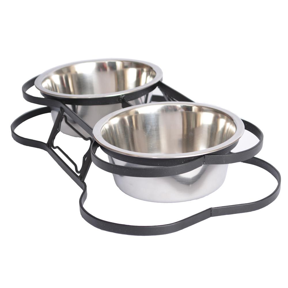 Iconic Pet Iconic Pet - Heavy Duty Pet Double Diner for Dog or Cat  (Bone Design) - 1 Pt - 16 oz – 2 cup PartNumber: 029V008498364000P KsnValue: 8498364 MfgPartNumber: 92047