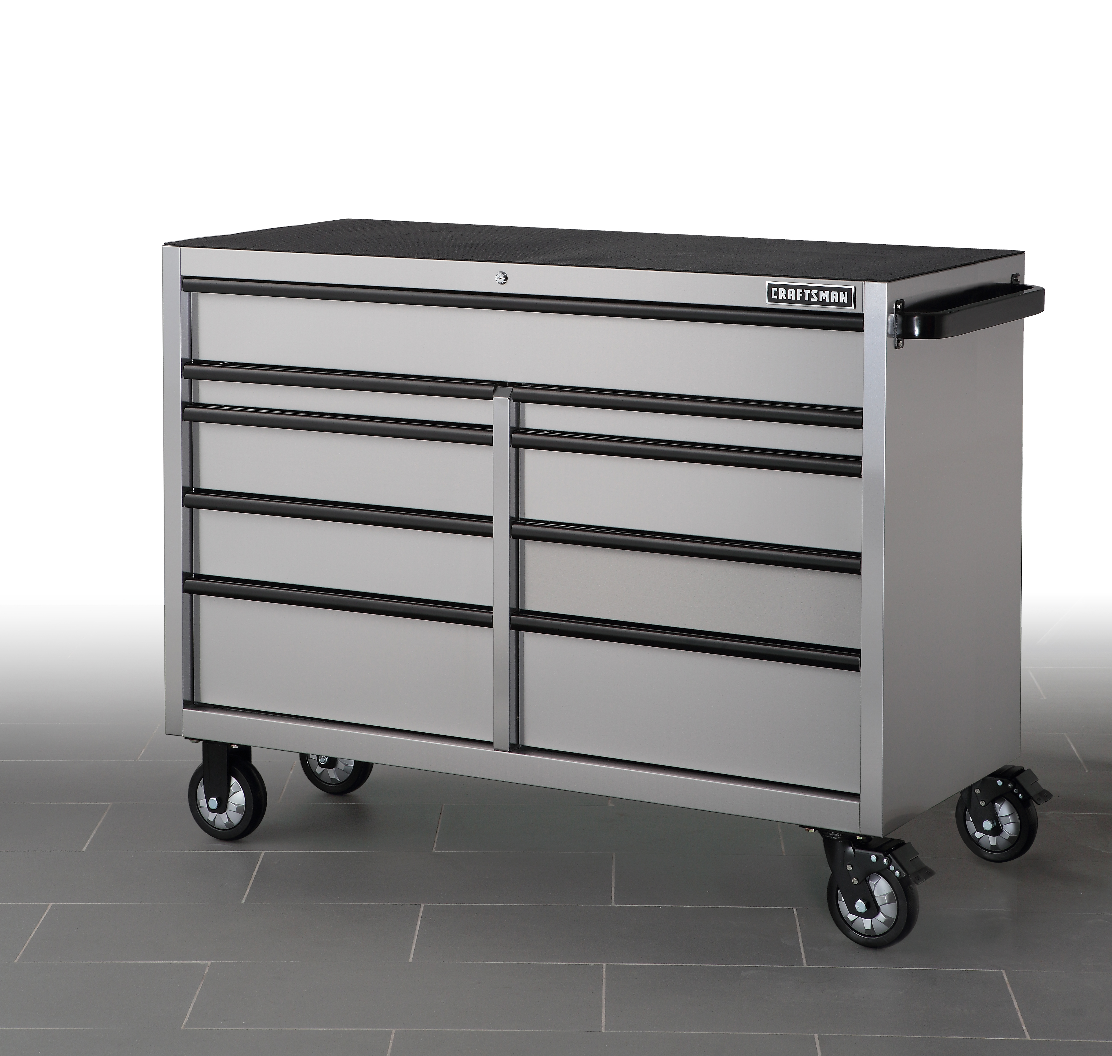 """""""""""""""Craftsman 53"""""""""""""""" 9-Drawer Rolling Cabinet - Stainless Steel, Stainless steel"""""""""""" im test"""