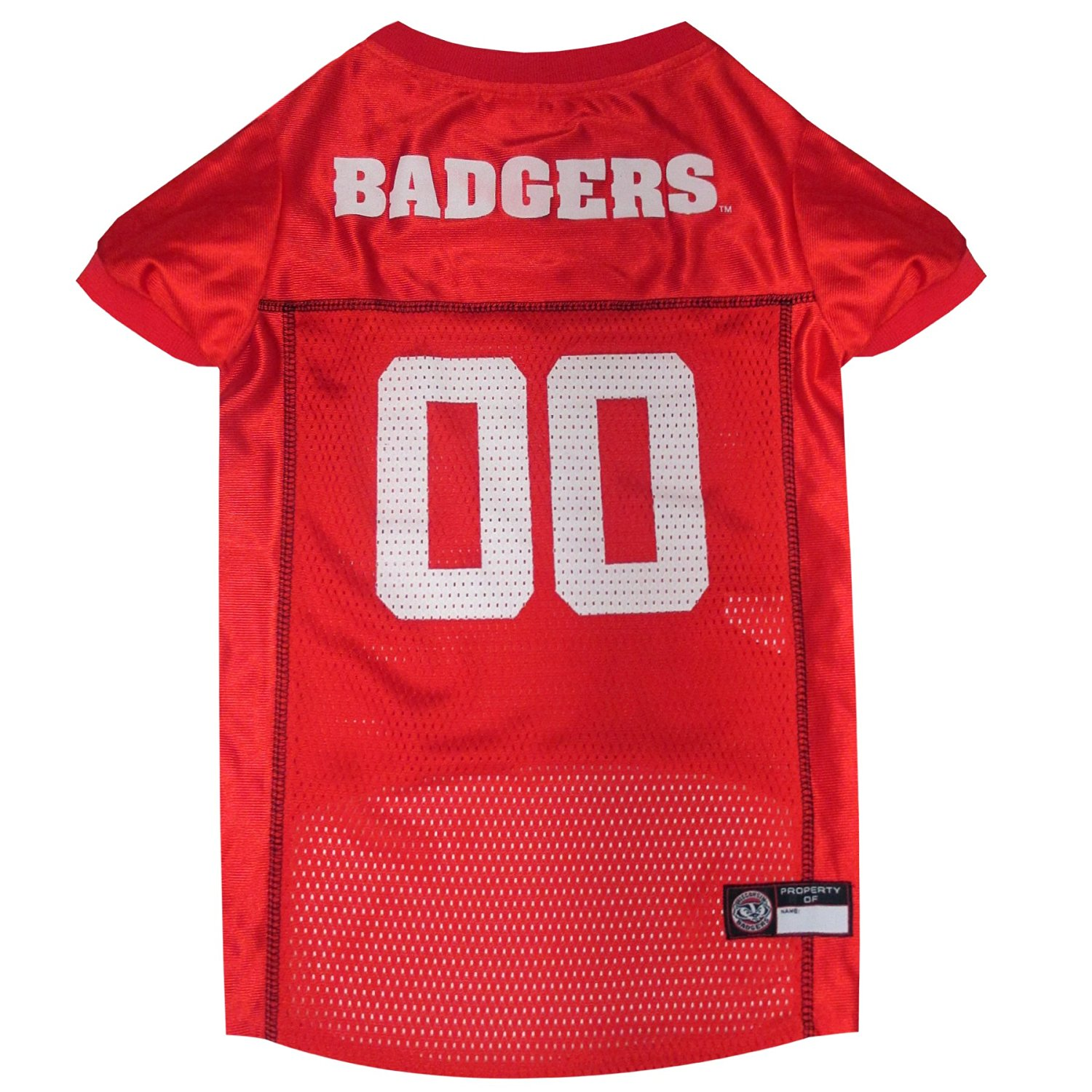 Pets First Co. Wisconsin Badgers Pet Jersey PartNumber: 02416628000P KsnValue: 9204787 MfgPartNumber: WI-4006-XXL