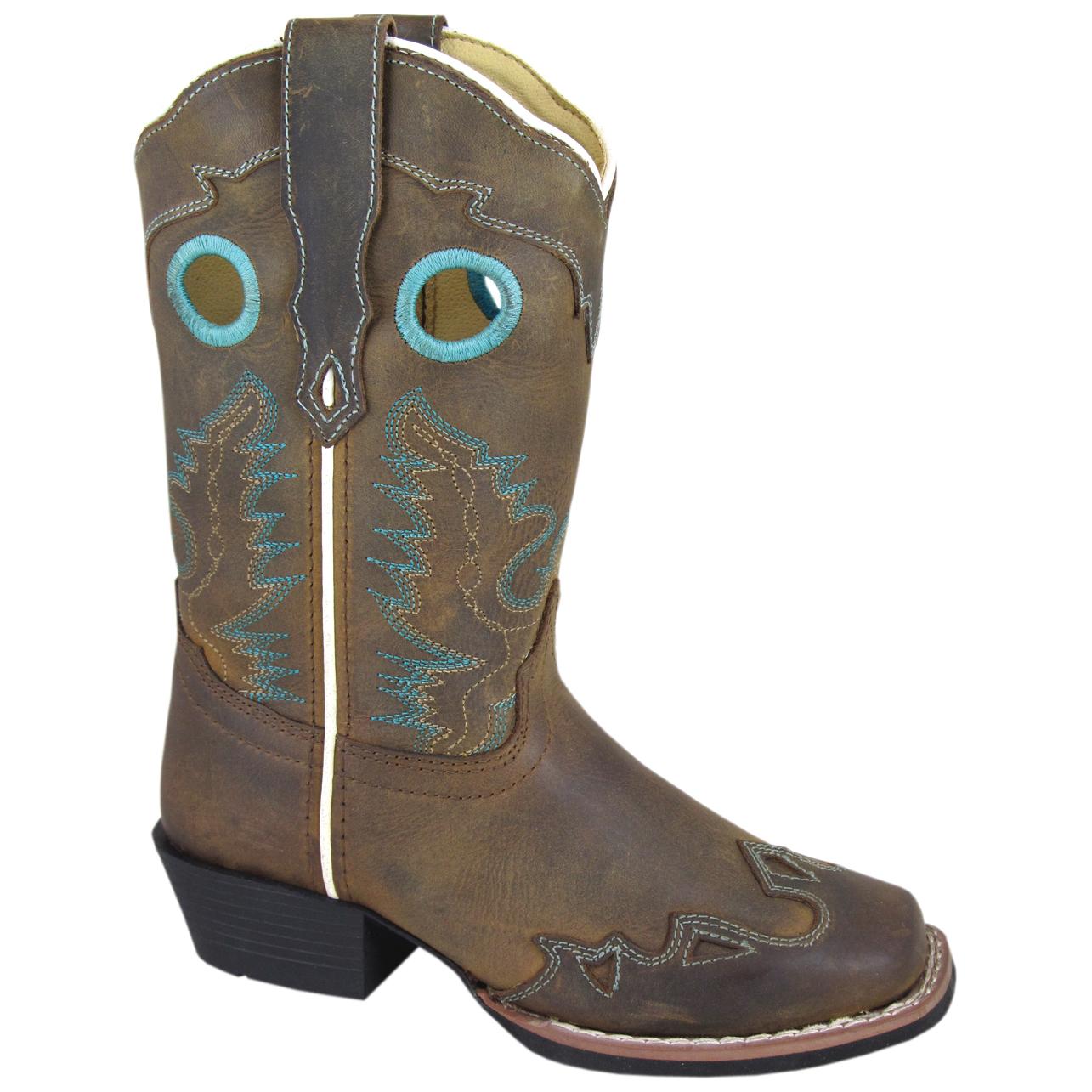 Smoky Mountain Boots Kid's El Dorado Brown Distress Leather Cowboy Boot PartNumber: 3ZZVA93069612P MfgPartNumber: 3344C