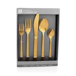 Stainless Steel Flatware Set Gold