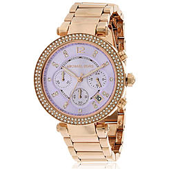 c221d8fab Michael Kors Women's MK5491 Chronograph Parker Rose Tone Stainless Steel  Watch