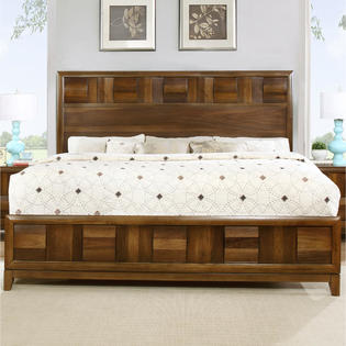 Roundhill Furniture Queen Wood 5pc Bedroom Set Sears Marketplace