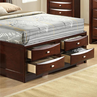 Roundhill Furniture Emily 111 King Storage Bed Sears Marketplace