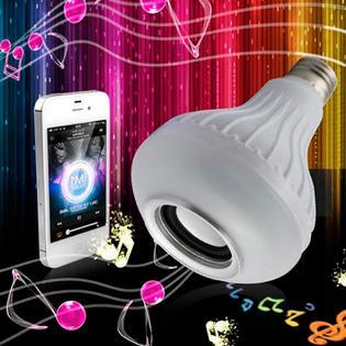 Alphabetdeal Dual Bluetooth Smart LED Bulb 16 Color Speaker Set with Remote PartNumber: SPM10636710520