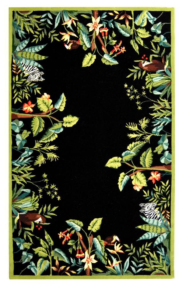 Safavieh Animal Kingdom Rug in Black (6 ft. x 9 ft.) PartNumber: SPM7109724309