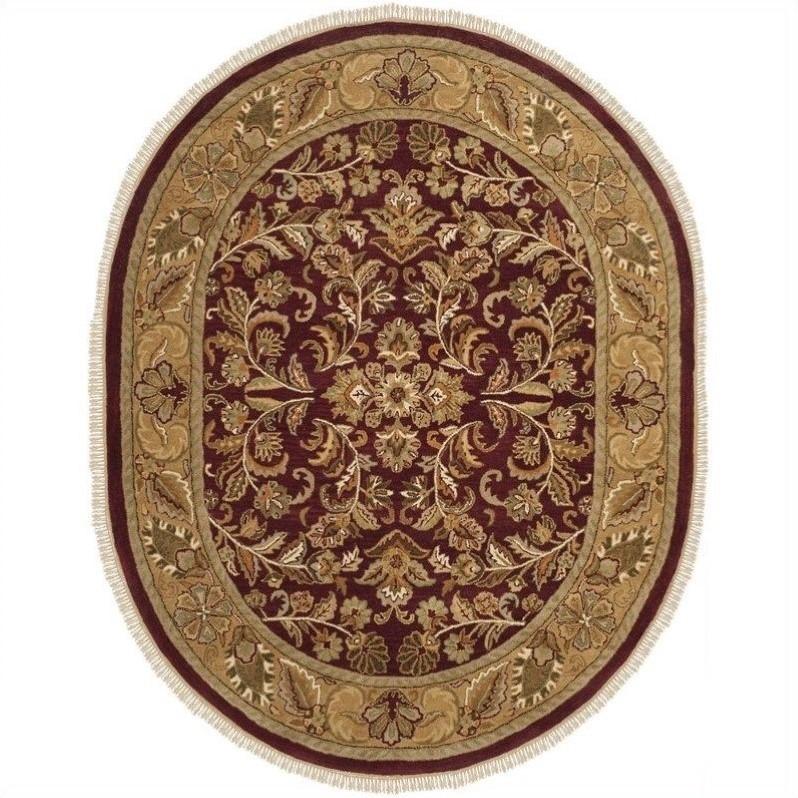 Safavieh Heritage Oval Rug in Red , Gold PartNumber: SPM9784383722
