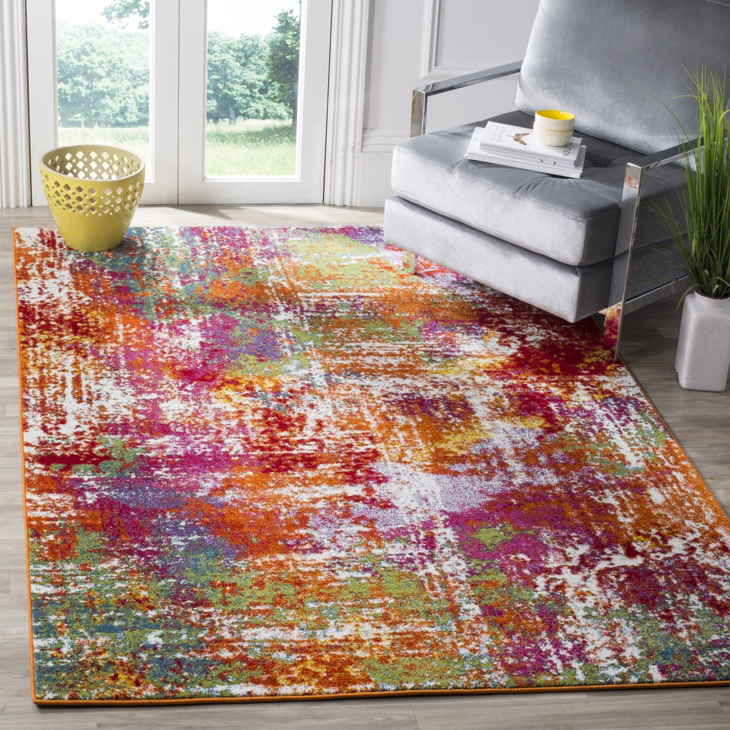 Safavieh Watercolor 8' X 10' Rug in Orange and Green PartNumber: SPM9762808322