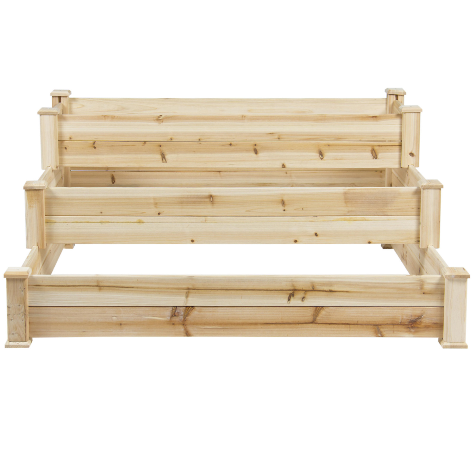 """Raised Garden Bed Construction: Best Choice Products 3-Tier 49"""" Wood Garden Bed"""