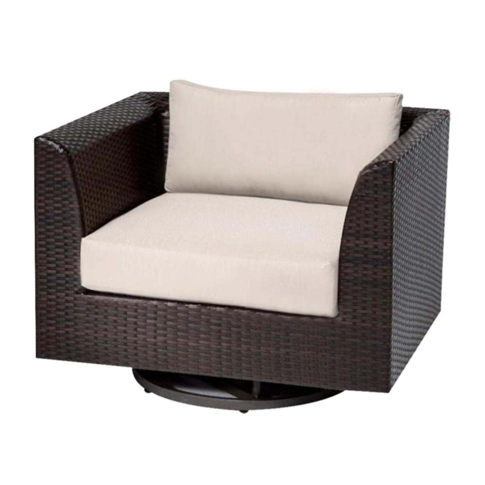TK Classics TKC Barbados Outdoor Wicker Swivel Chair In Beige