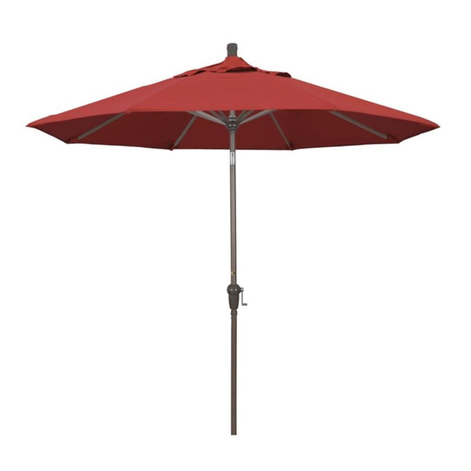 California Umbrella SDAU908900-F13 Sunset Series Champagne Patio Umbrella, Red - 9 ft. x 8 Ribs PartNumber: SPM10347883118