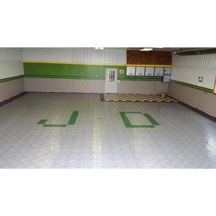 Speedway Garage Tile 6 Tab Lock Diamond Floor Tile Sears